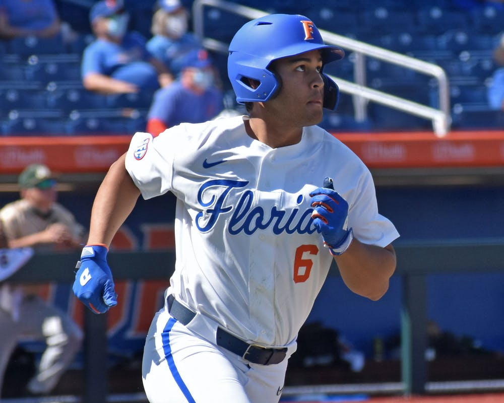 Kendrick Calilao against Jacksonville University on March 14. Calilao led the Gators with six hits in the weekend series against Georgia