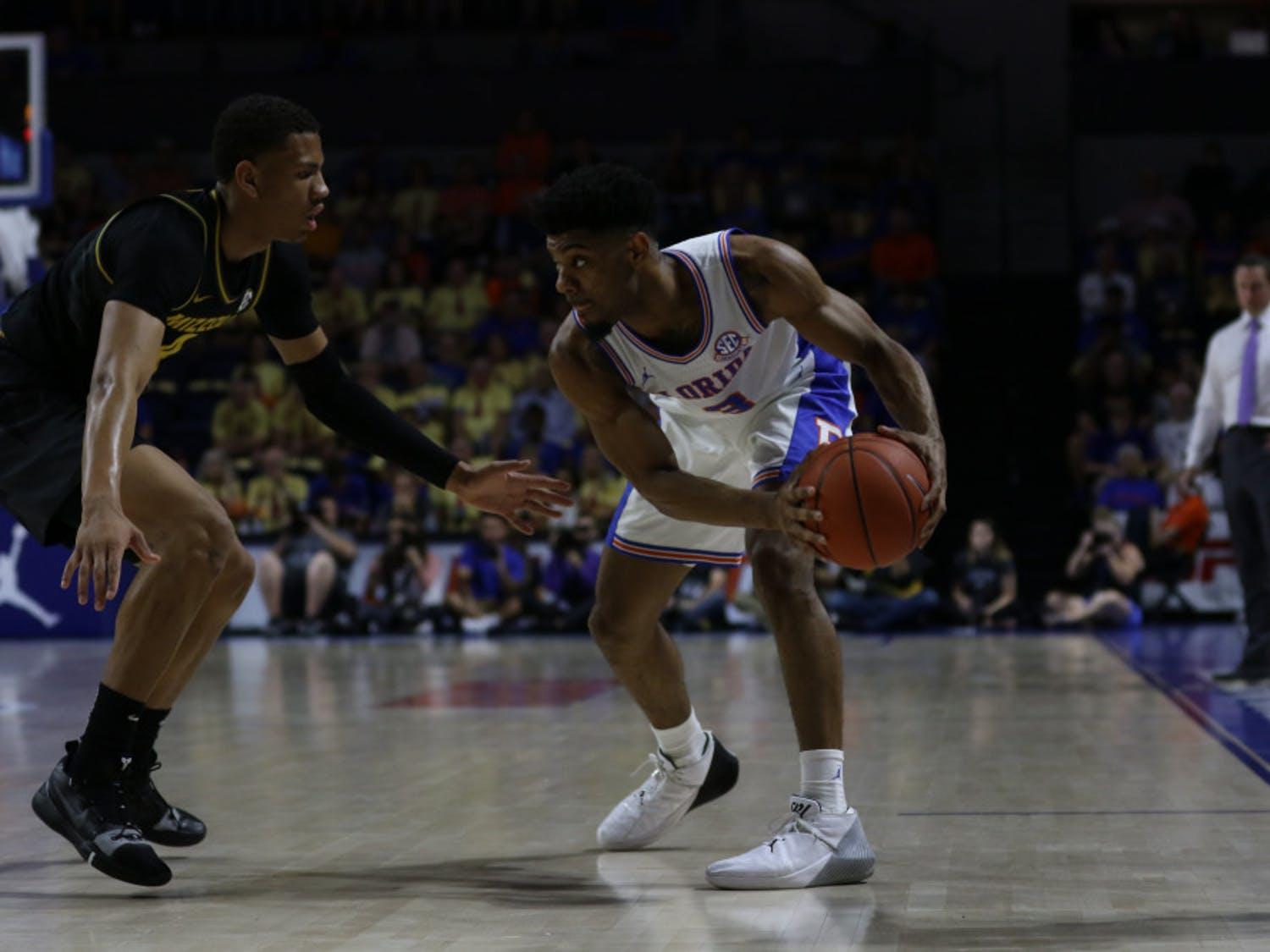 Florida guard Jalen Hudson scored a team-high 13 points in UF's 61-55 loss to Georgia on Saturday at the O'Connell Center.