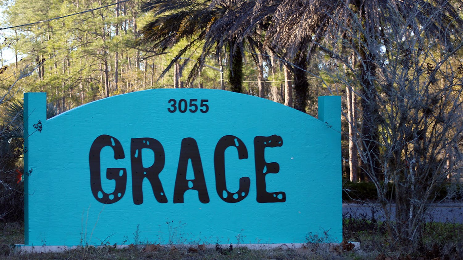 Photo of GRACE Marketplace sign at 3055 NE 28th Ave. in Gainesville, FL.