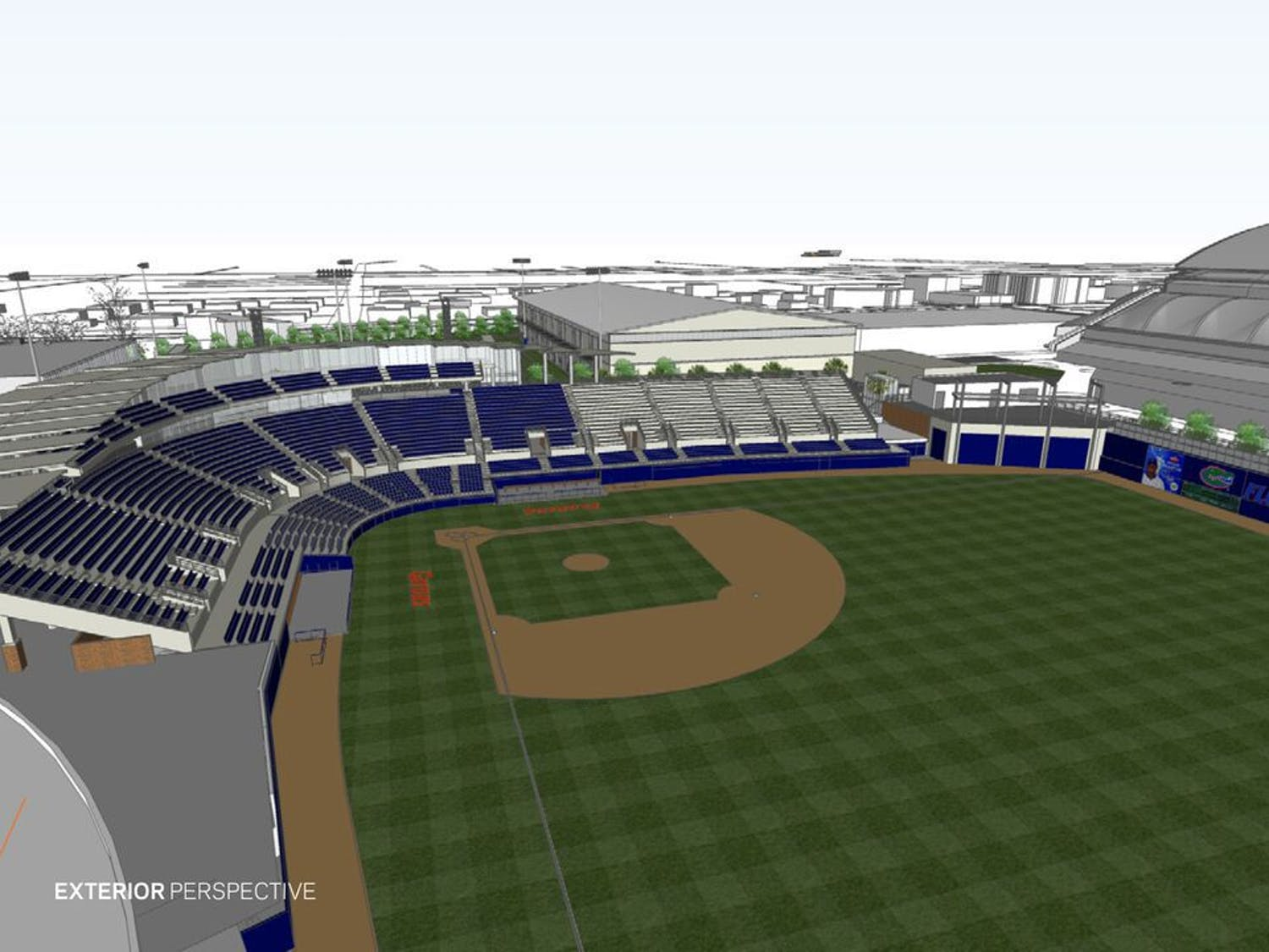 A rendering of Florida's proposed additions to McKethan Stadium.