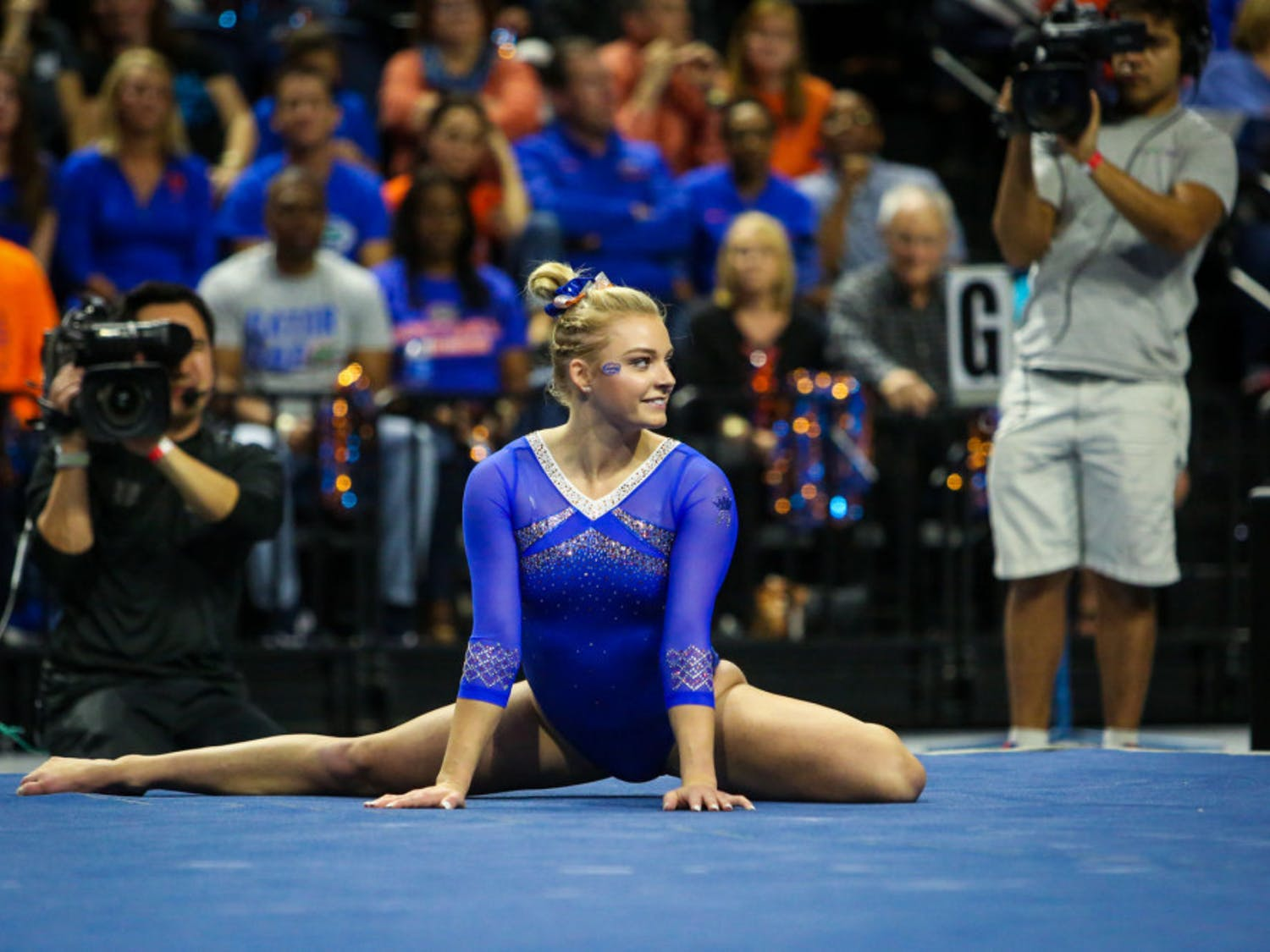 Freshman Alyssa Baumann posted the high score in beam for the second time in her career with a 9.90.