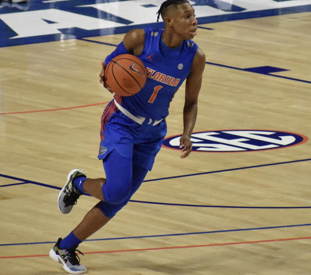 <p>Kiara Smith dribbles in a 77-70 loss against  Alabama on Feb. 18. The 5-foot-10-inch redshirt senior dropped a career-high 36 points Thursday in a season-ending loss against Kentucky.</p>
