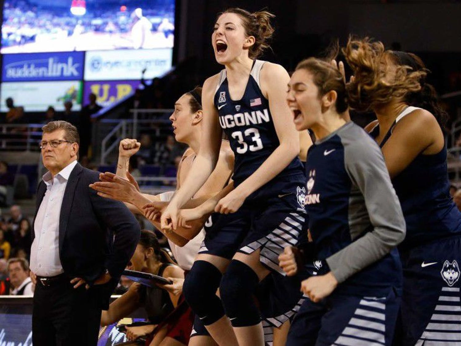Coach GenoAuriemma and the UConn Huskies have won six of the last nine NCAA Women's Basketball Championships.