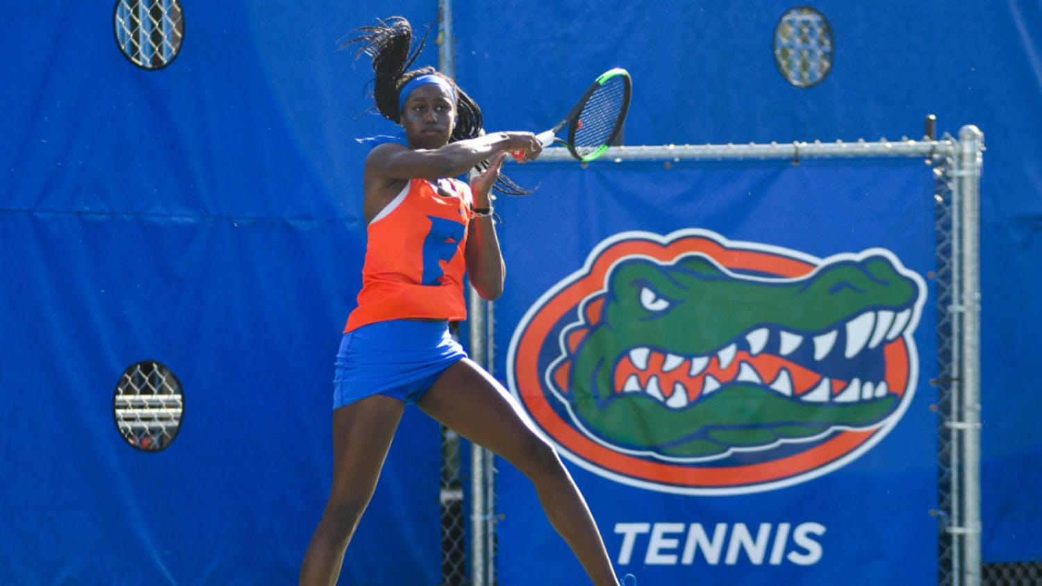 Marlee Zein (pictured) defeated Georgia State's Angel Carney 6-4 on Monday afternoon