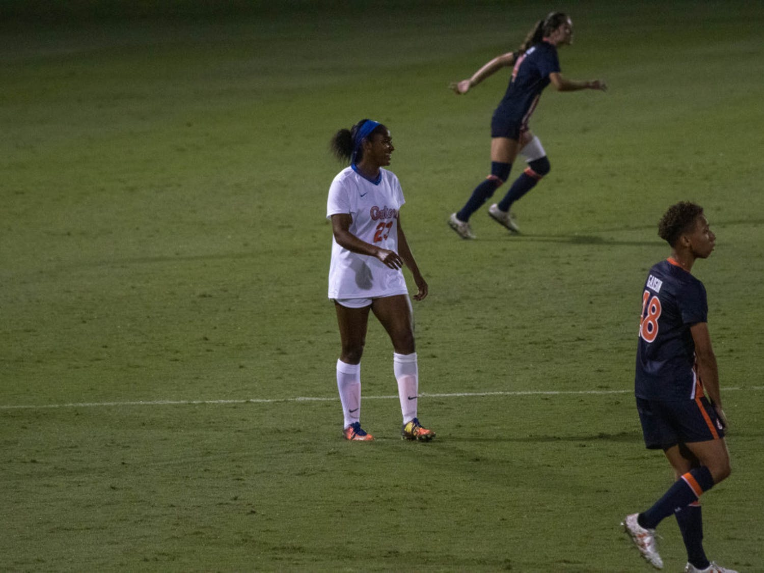 Florida's Kouri Peace, pictured in 2019, played on her birthday Sunday and saw two chances at a goal, but Miami held on for a 1-0 overtime victory at the buzzer.