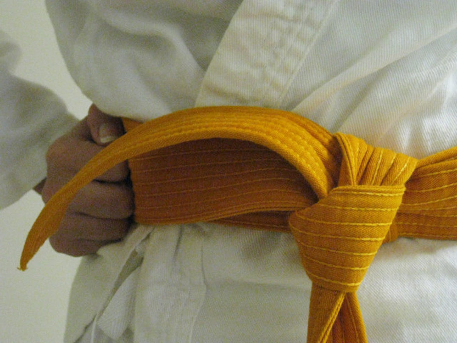 Christine, who is pictured here but wishes to remain anonymous, says she feels normal when practicing karate.