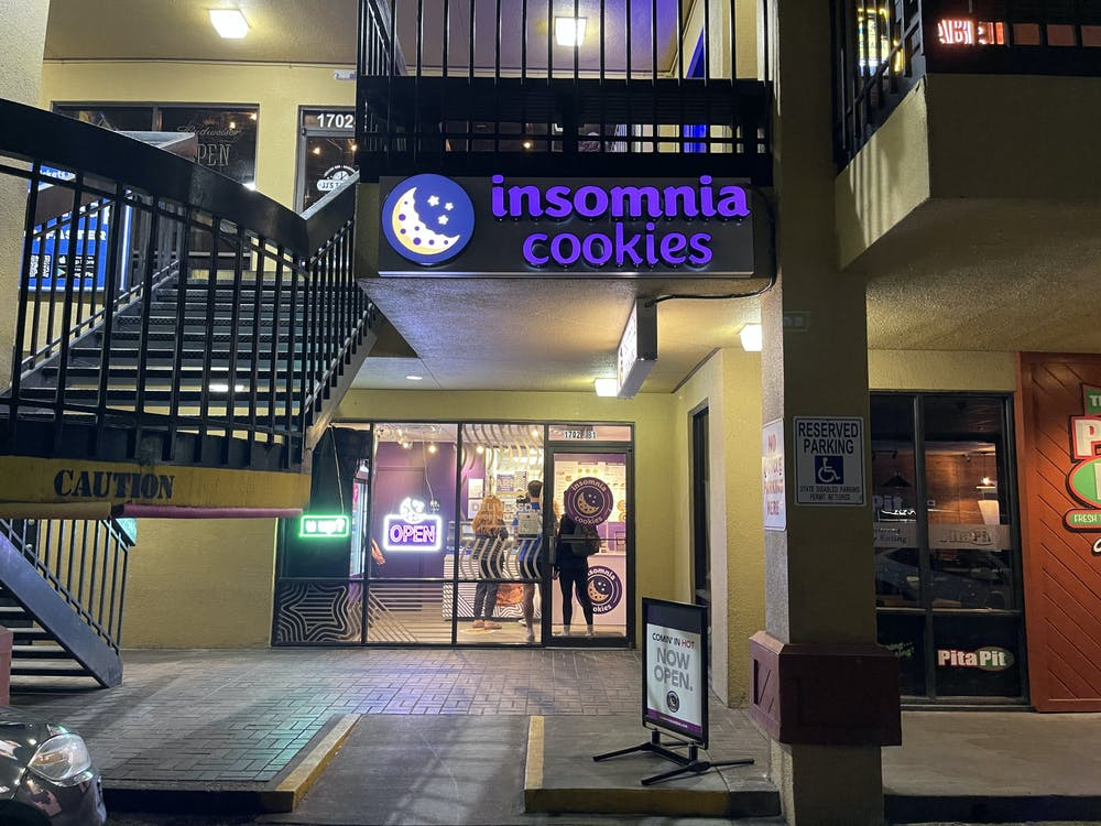 The late-night cookie store, which held its grand opening on March 13, is located directly across from UF campus at 1702 West University Avenue.