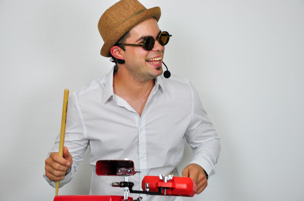 """<p>Elio Piedra, 27, a Latin DJ in Gainesville, first learned how to play the drums in Cuba when he was in the fourth grade. He moved to the U.S. in 2010, when he was 19. """"For most, it's like two pieces of wood,"""" he said. """"But for me, it's like extensions of my arms.""""</p>"""