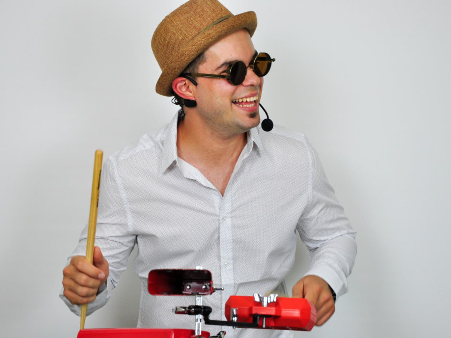 "Elio Piedra, 27, a Latin DJ in Gainesville, first learned how to play the drums in Cuba when he was in the fourth grade. He moved to the U.S. in 2010, when he was 19. ""For most, it's like two pieces of wood,"" he said. ""But for me, it's like extensions of my arms."""