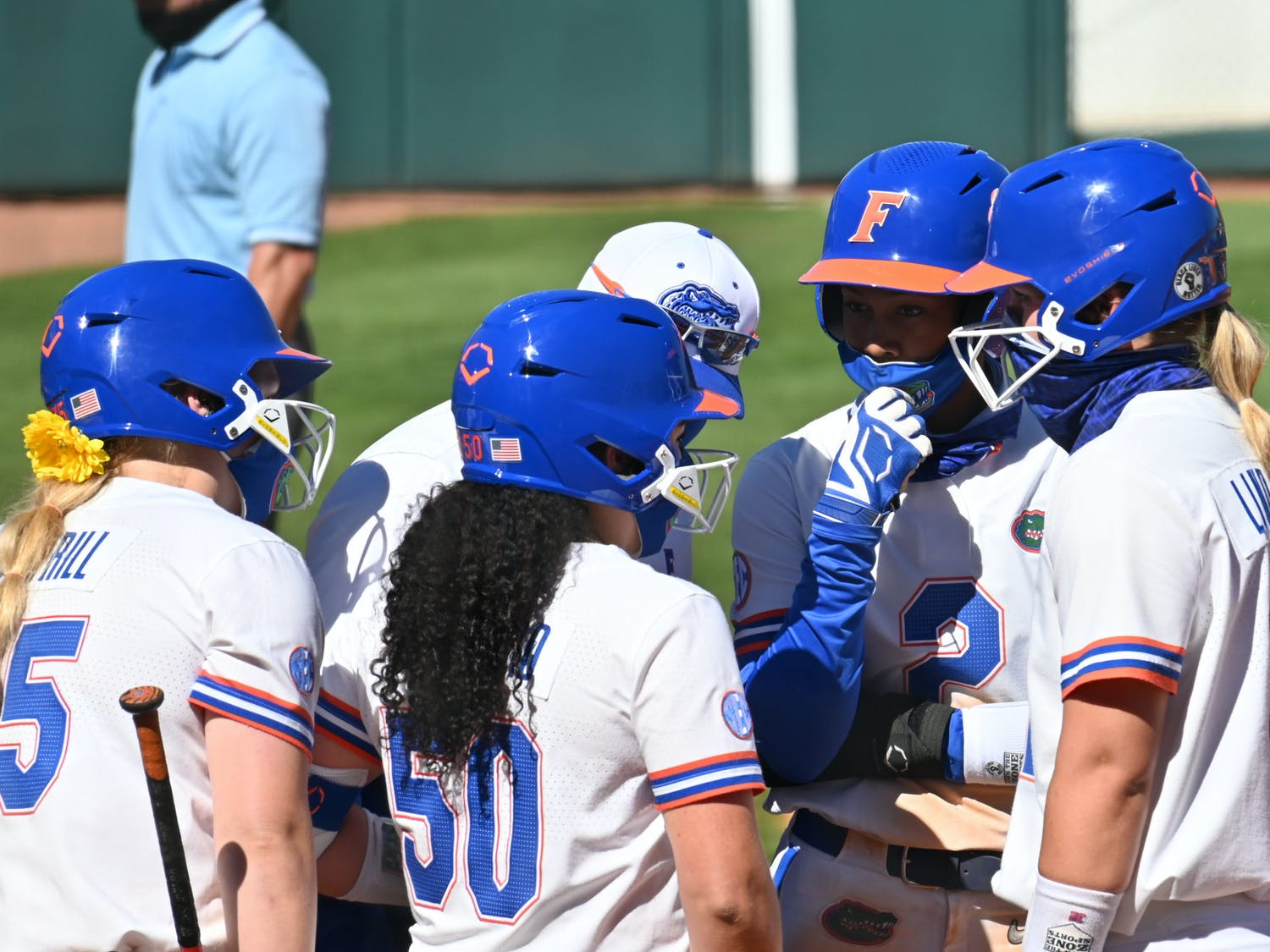 The Gators walked away with a pair of wins, 9-1 and 2-1. Photo from UF-Charlotte game Feb. 20.