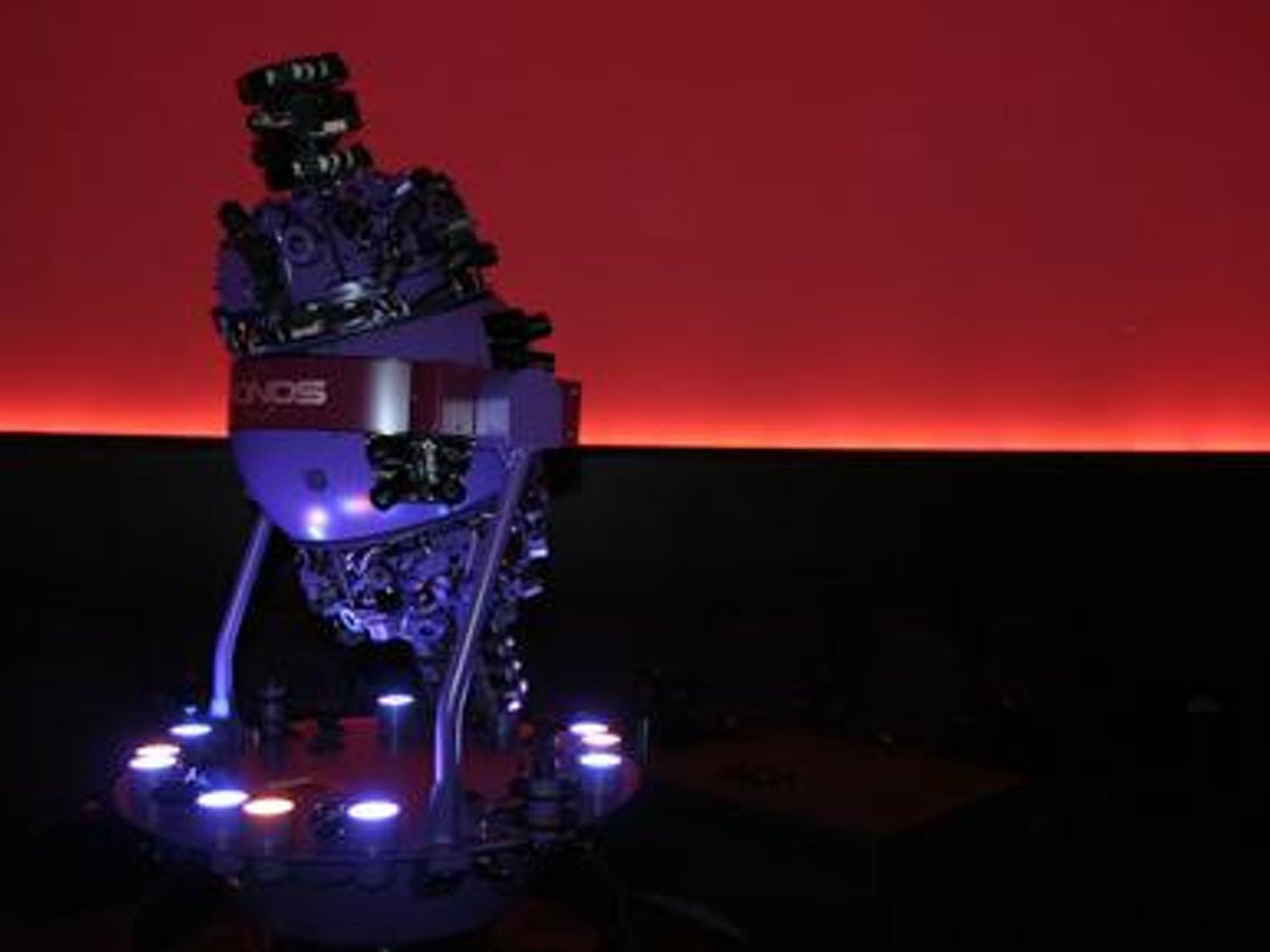 """The Chronos planetarium projector, located inside the new Kika Silva Pla Planetarium completed in August 2006 on the SFCC campus, is set to dazzle people of all ages with its """"Southern Nights"""" show when it officially opens to the public Friday at 8:30 p.m."""
