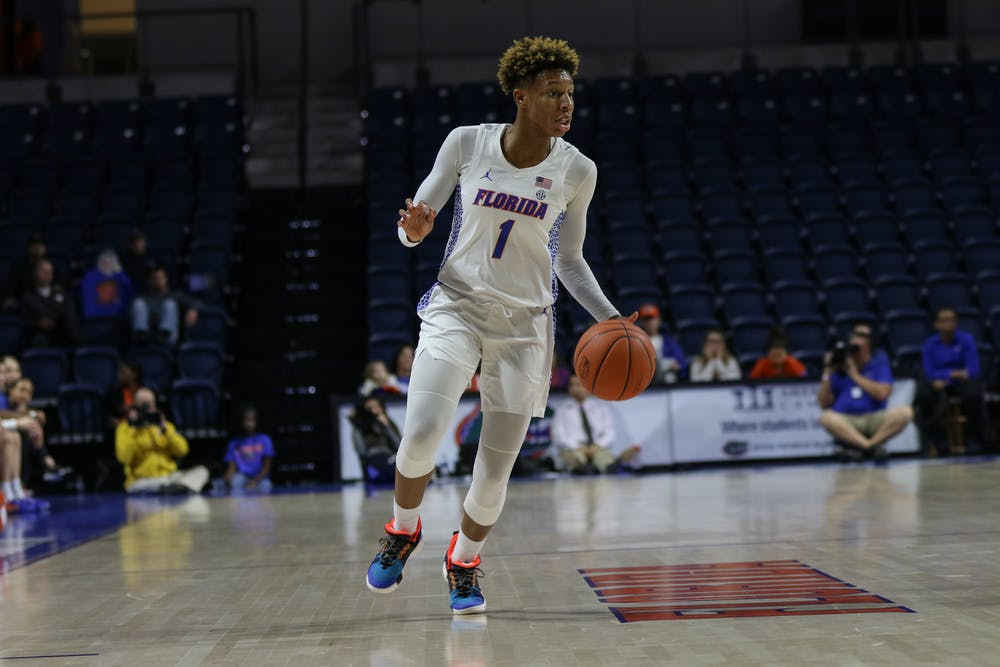"""<p dir=""""ltr""""><span>Guard Kiara Smith pitched in a double-double (16 points and 10 rebounds) in Florida's 83-73 home loss to Arkansas on Sunday. She also recorded a team-high five assists.</span></p><p><span></span></p>"""