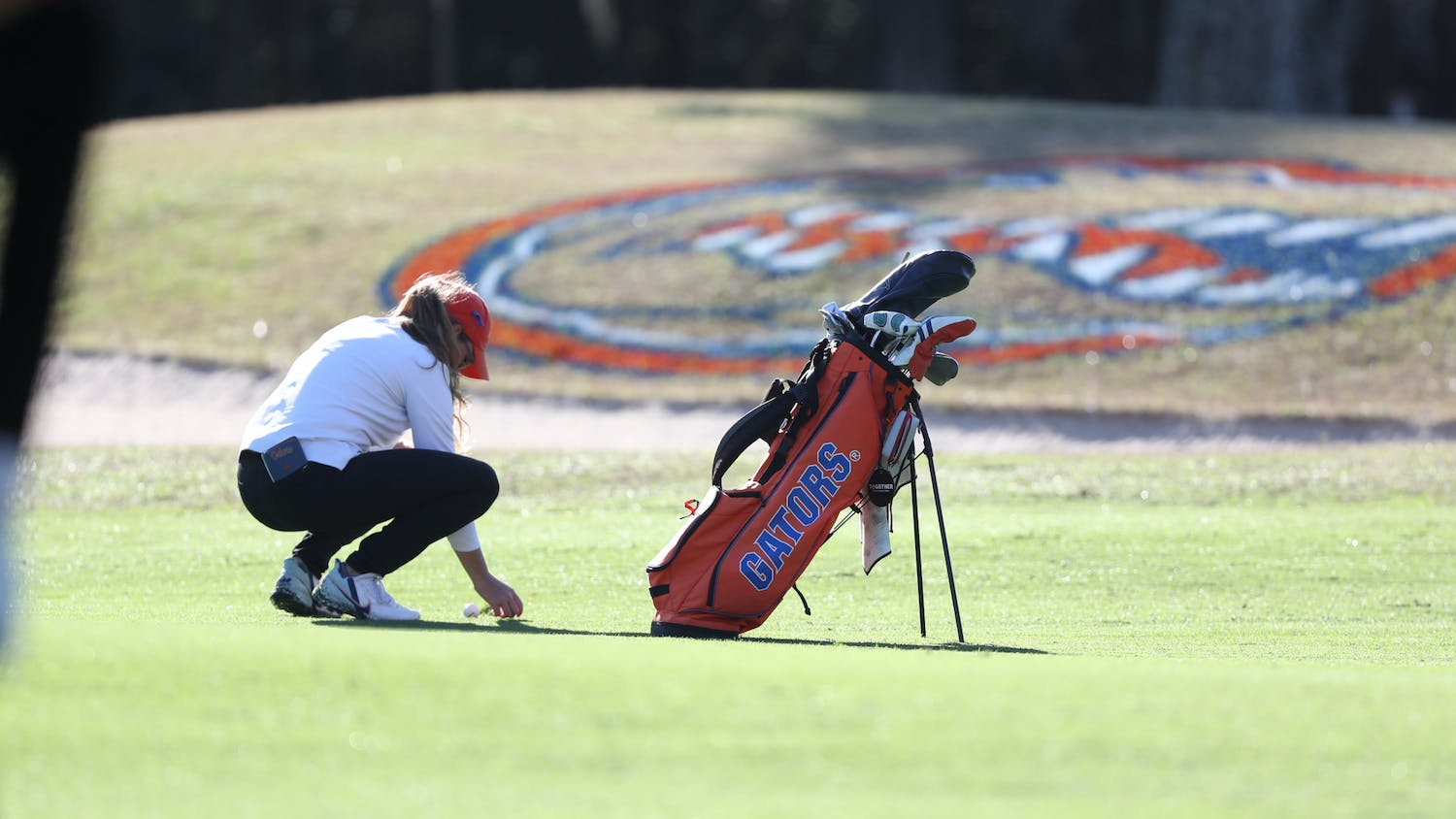 Addie Baggarly's now 3-under-par for the tournament and ties for 22nd. Photo courtesy of the UAA.