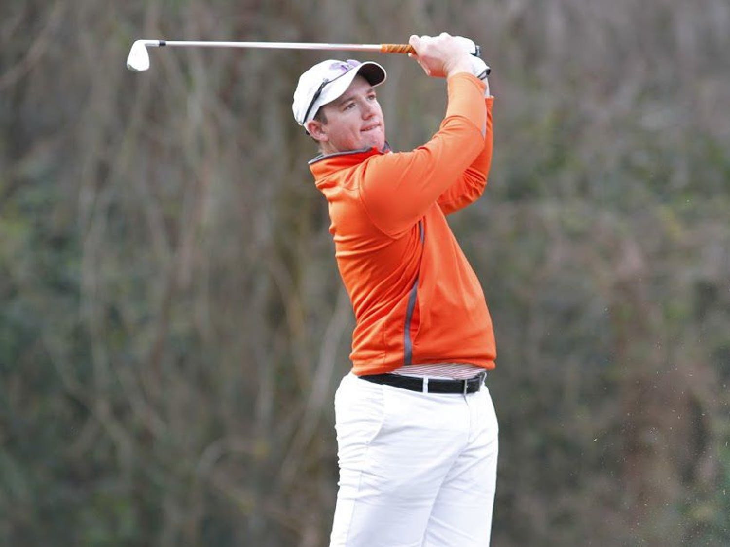UF's Sam Horsfield swings during the SunTrust Gator Invitational on Feb. 18, 2017, at the Mark Bostic Golf Course.