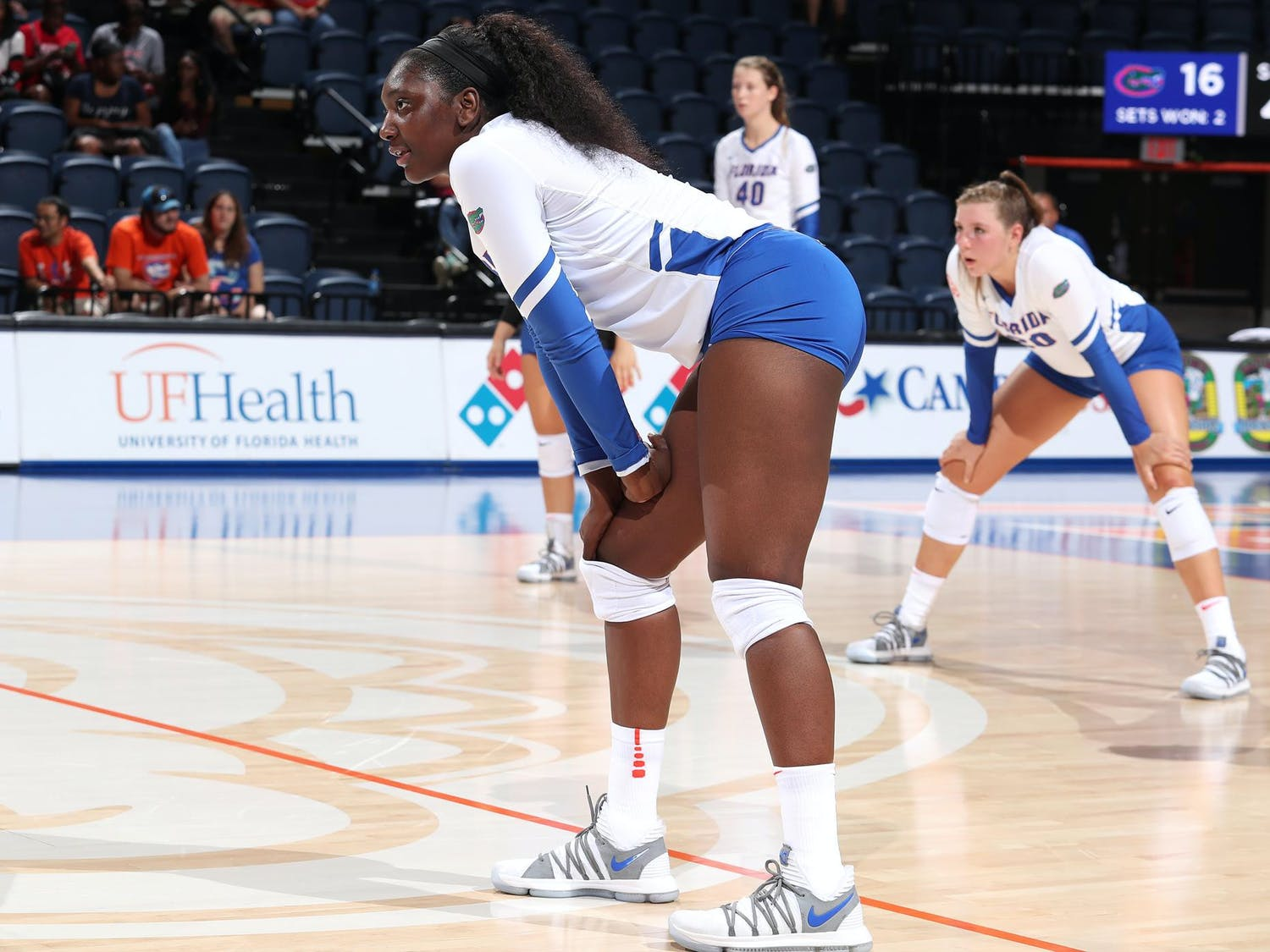 Darrielle King, an educational sciences redshirt senior, shares her journey from growing up in her Dallas suburb to playing volleyball as a middle blocker at UF. Photo by Allison Curry