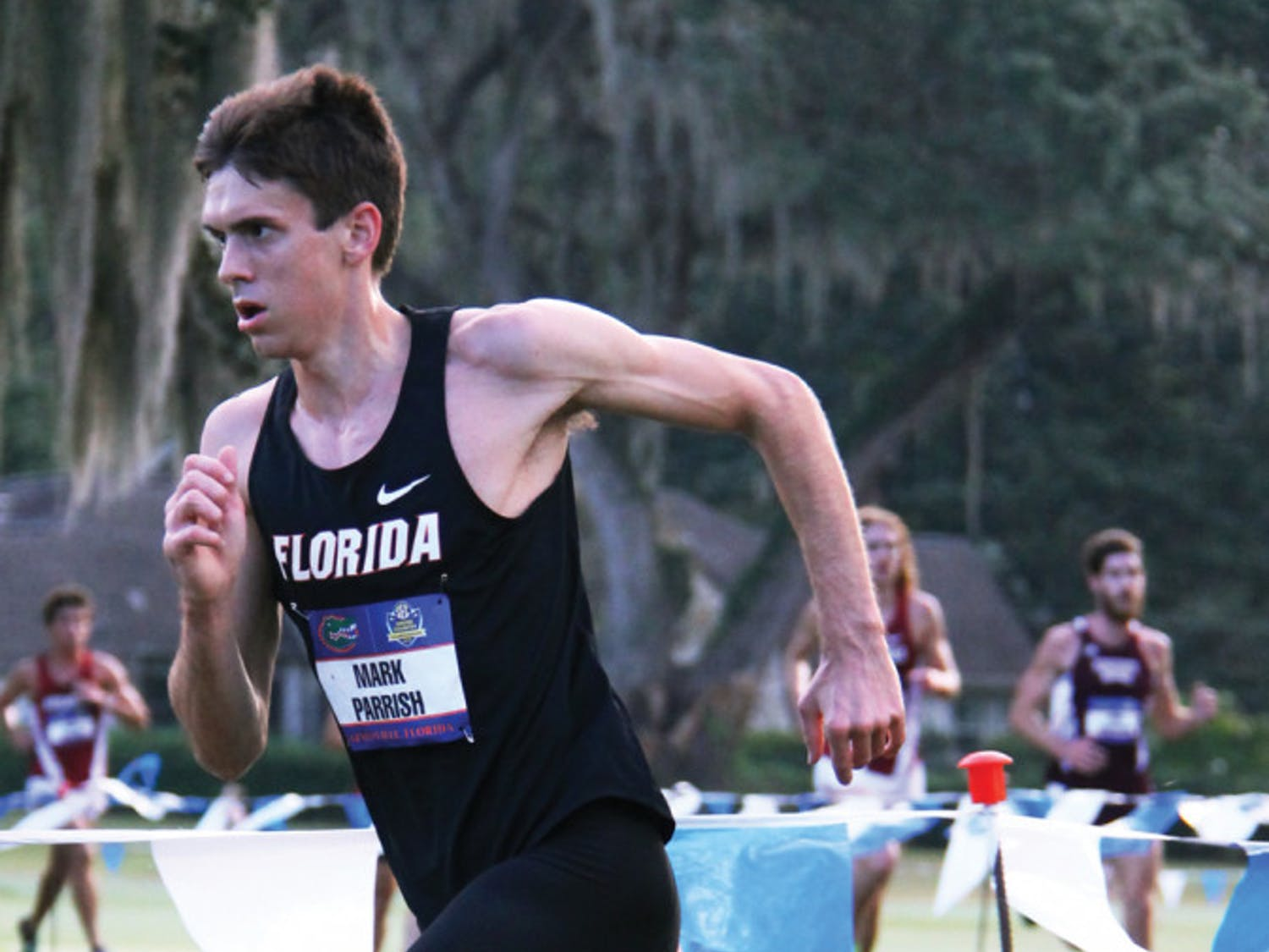 Mark Parrish runs in the Southeastern Conference Championship on Nov. 1, 2013 at the Mark Bostick Golf Course in Gainesville.