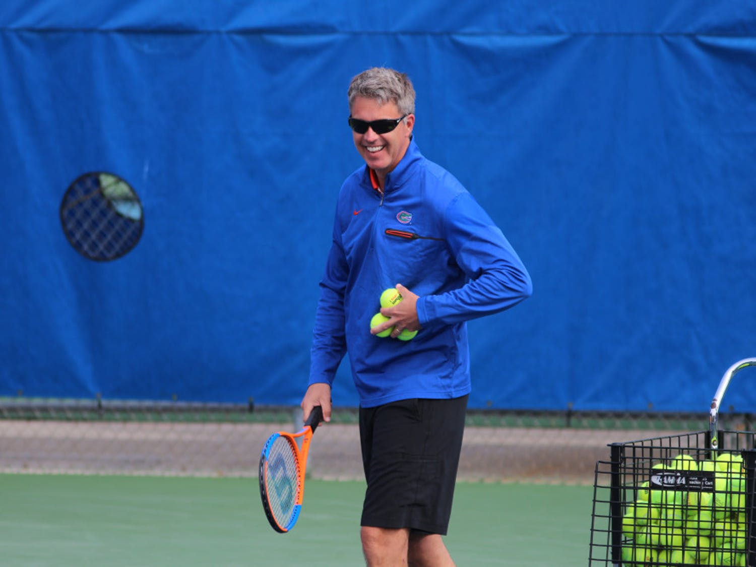 """UF women's tennis coach Roland Thornqvist is from Sweden and said that being from outside the U.S. helps him recruit international talent. """"I think that I understand what (international players) are going through when they get here,"""" he said."""