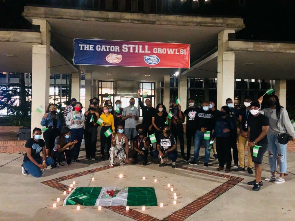 Photo of vigil for brutality in Nigeria
