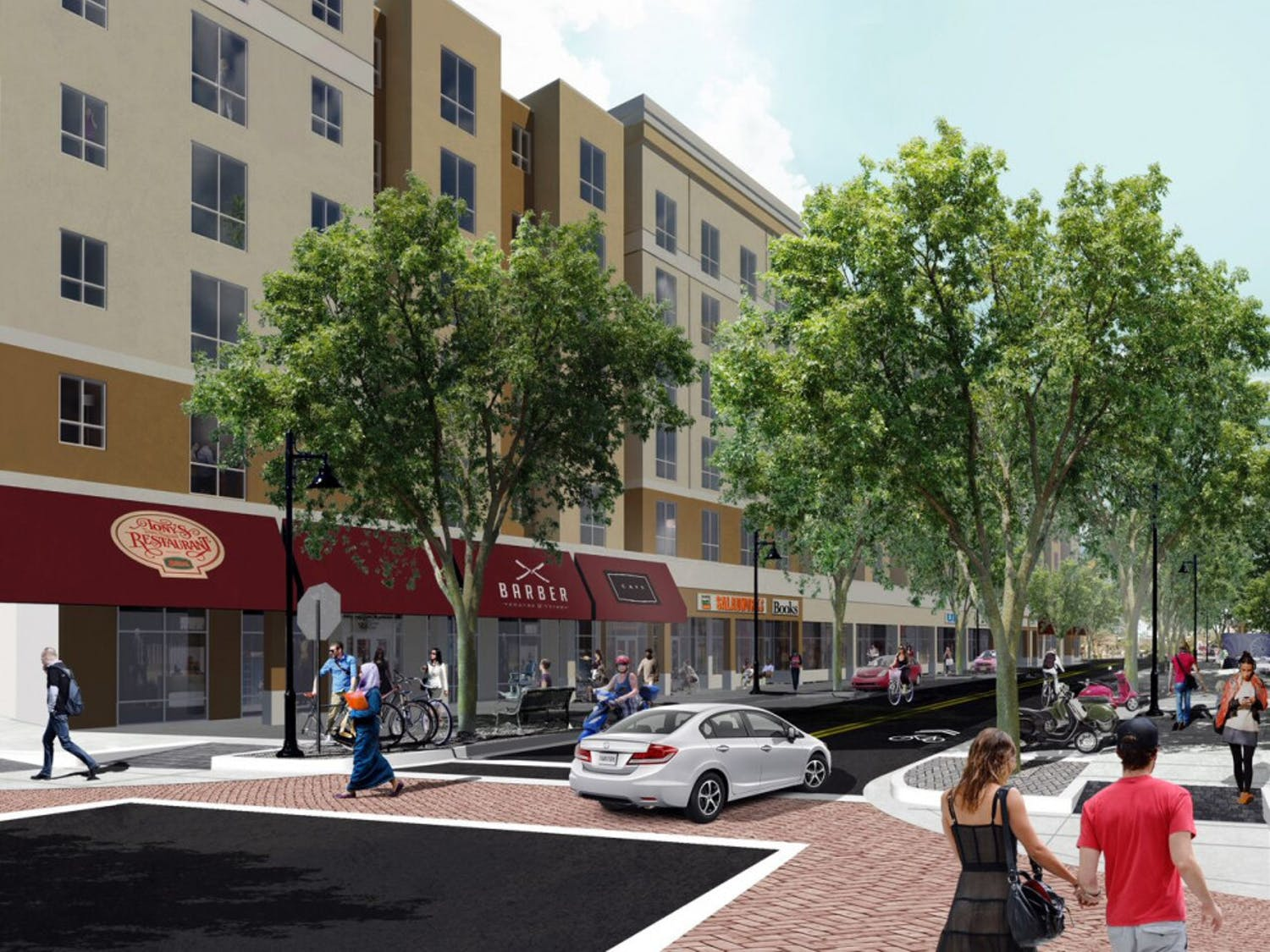 A rendering of theNorthwest First Avenue construction, which is projected to finish inFall 2017.
