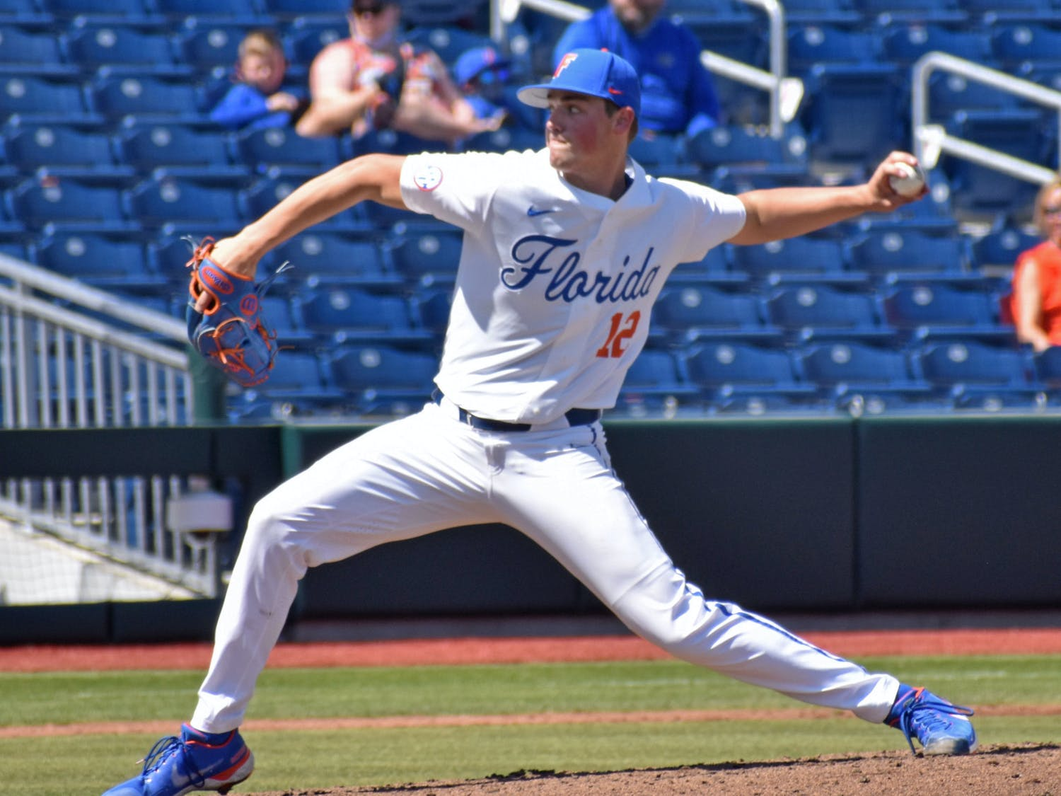 Florida left-handed pitcher Hunter Barco pitches against Jacksonville on March 14, 2021. Barco and Brandon Sproat will pitch for the USA Baseball Collegiate National Team this summer among nine Gators summer assignments.