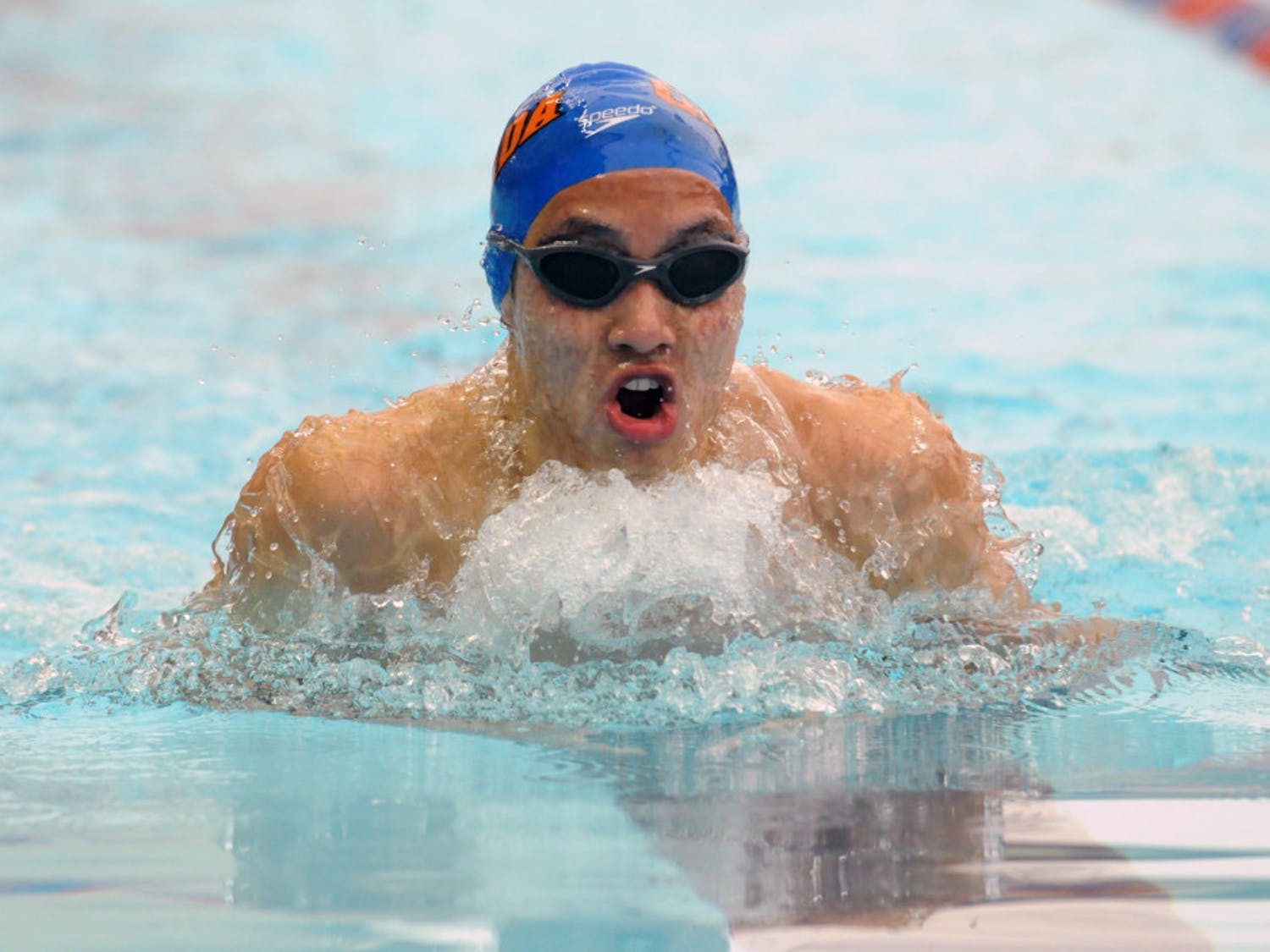 Senior Stanley Wu helped lead the UF men to victory over FSU in its home pool with individual victories in 100-yard and 200-yard breaststroke.