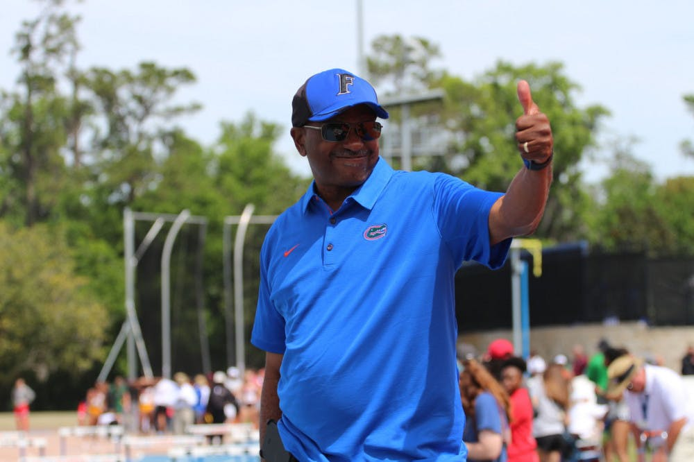 <p>UF track and field coach Mike Holloway. The Gators had 10 athletes bring home hardware from the SEC Outdoor Championships.</p>