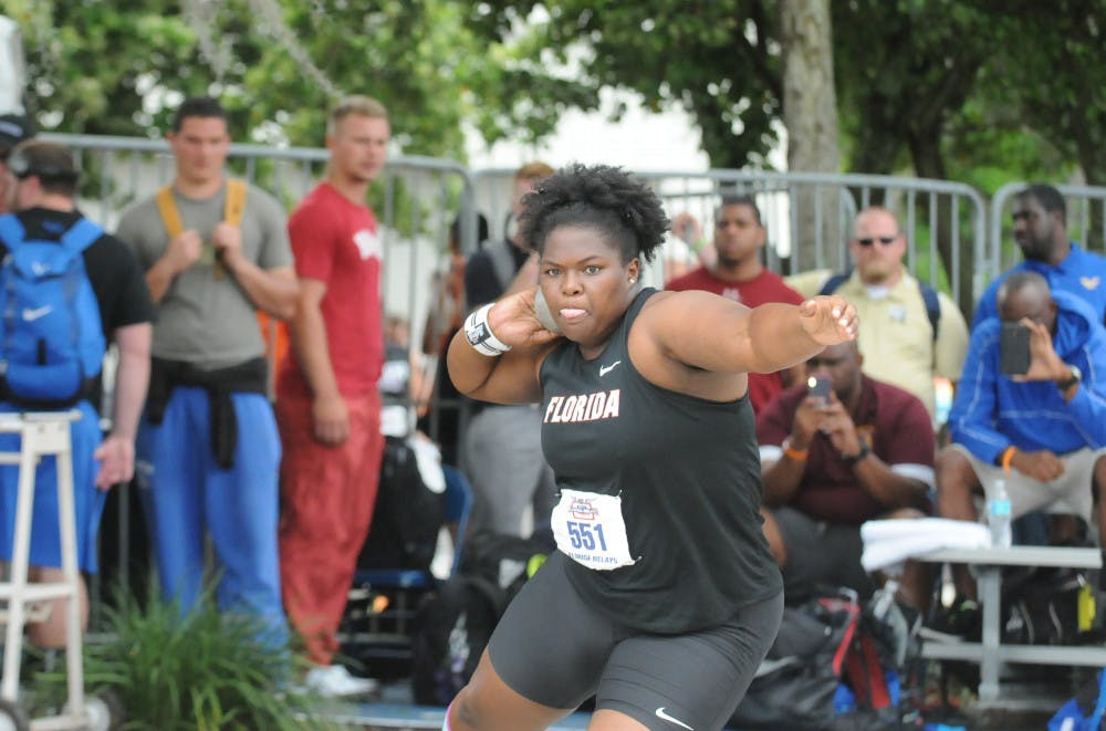 <p>Senior Lloydricia Cameron ran away with the shot put title at the Bayou Bengal Invitational, winning by over 2 meters.</p>
