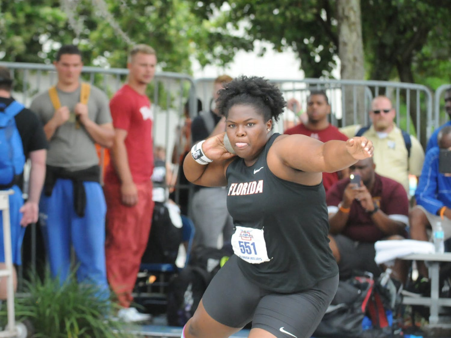 Senior Lloydricia Cameron ran away with the shot put title at the Bayou Bengal Invitational, winning by over 2 meters.