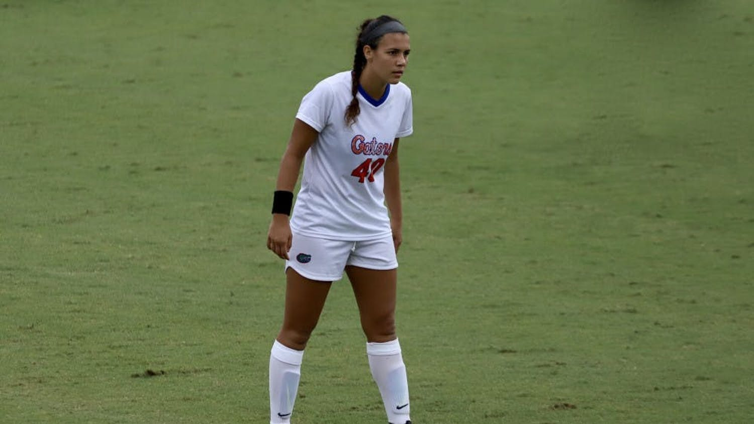 Alivia Gonzalez, pictured during her sophomore year, led the Gators with three shots in their conference opener against Vanderbilt Friday.