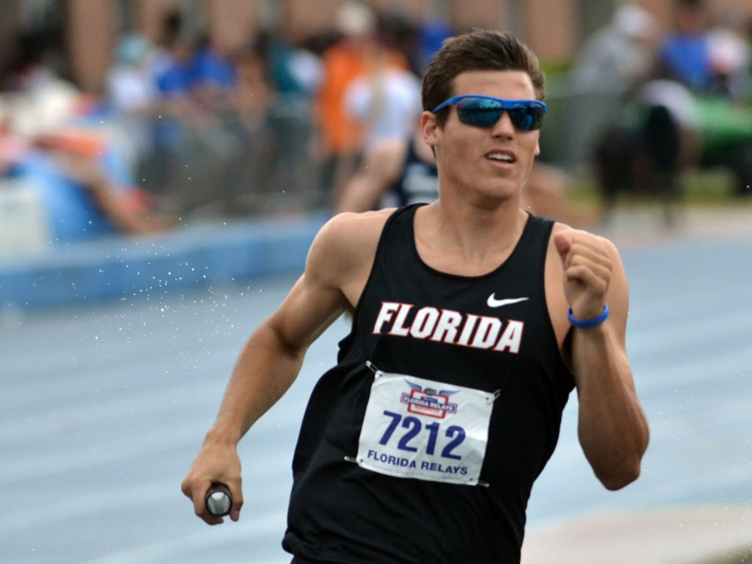 Ryan Schnulle races during the final day of the Florida Relays onApril 4at the Percy Beard Track