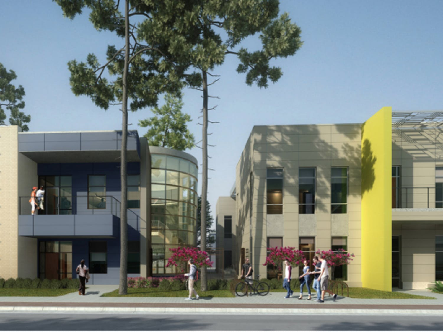 Above are the projected exterior designs for the IBC (left) and La Casita.