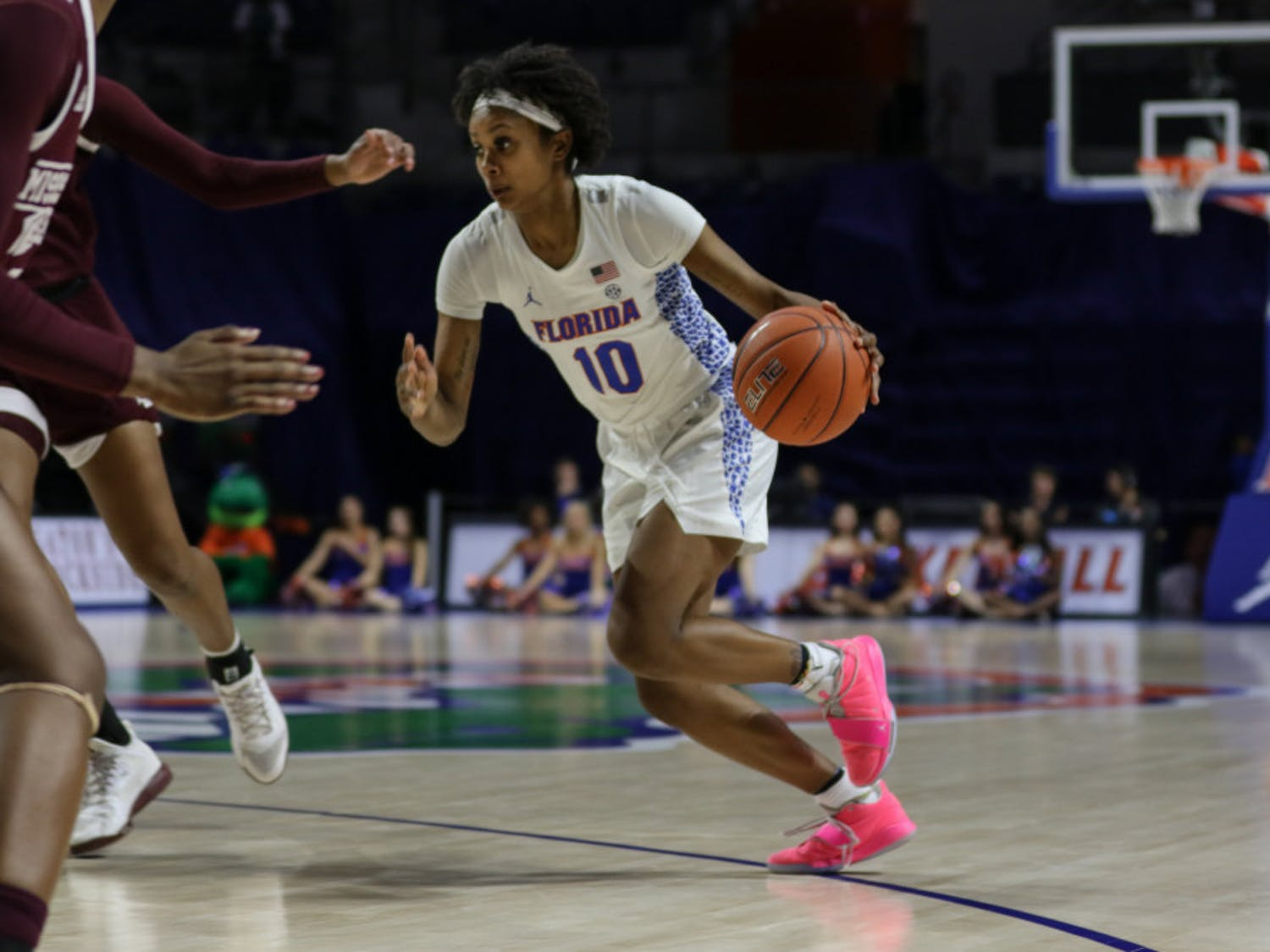 Guard Danielle Rainey averaged 8.2 points per game off the bench last season and made 28 three-pointers.