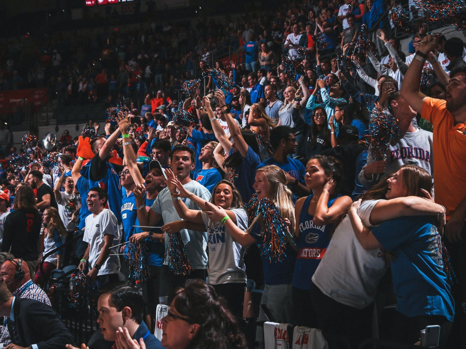 The student section is home to the Rowdy Reptiles, who ignite Florida home games' intense atmosphere.