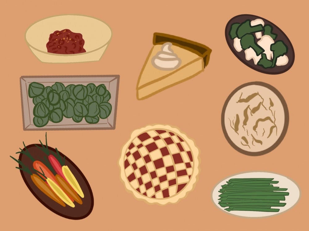 <p>Traditionally a meat- and dairy-heavy holiday dinner, Thanksgiving is handled differently by students with vegan and vegetarian diets.</p>