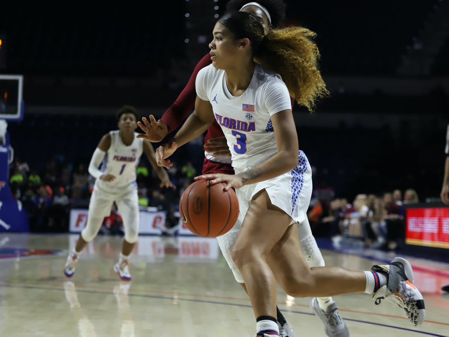 Sophomore Lavender Briggs dropped 20 points in the Gators' victory over UNC Asheville Wednesday evening.