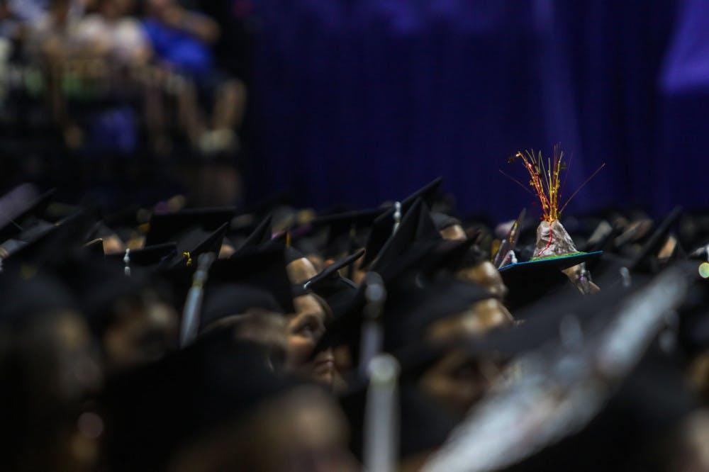 Summer graduation: volcano cap
