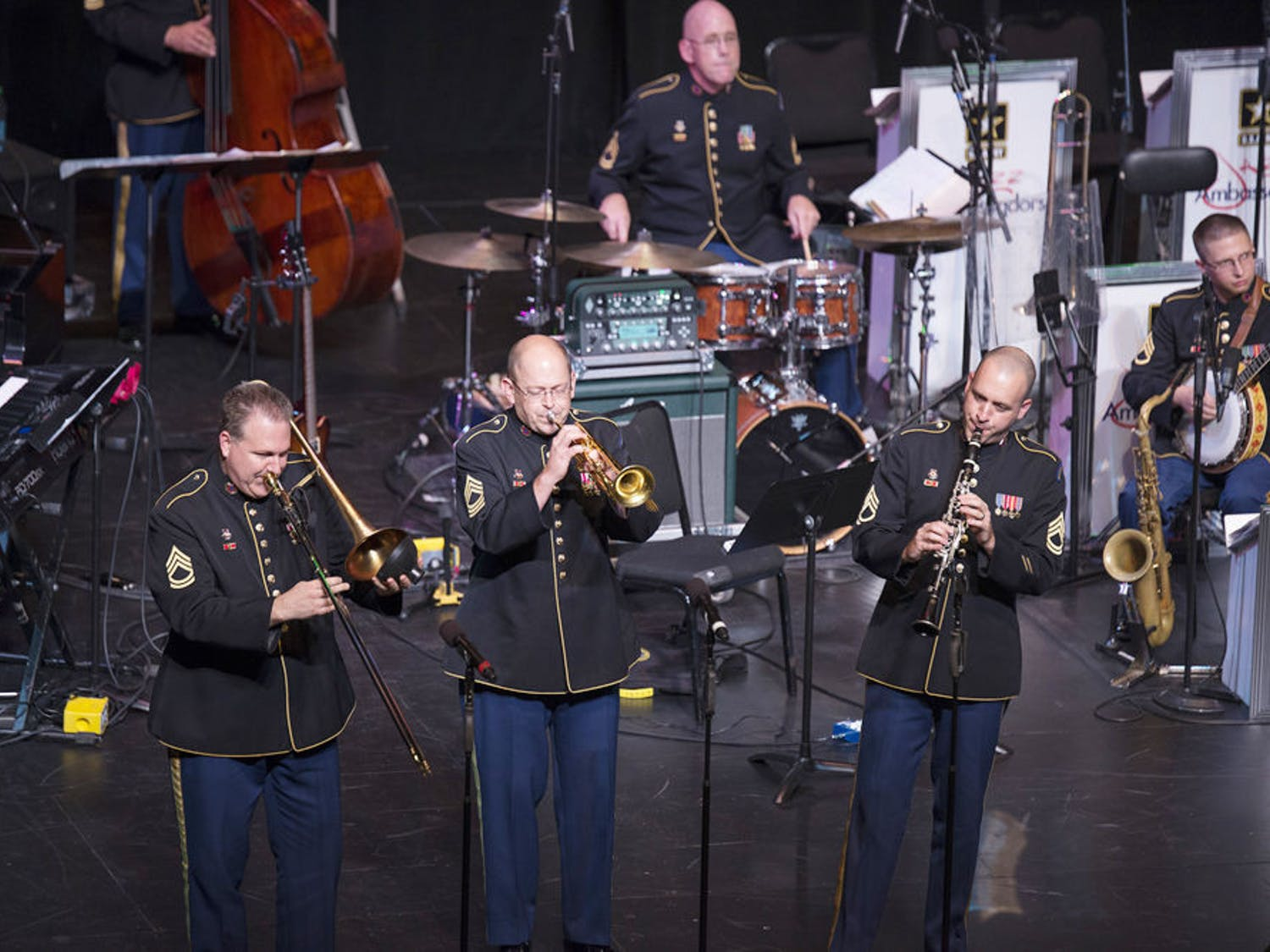 Jazz Ambassadors of the U.S. Army Field Band perform Tuesday night in the Phillips Center.