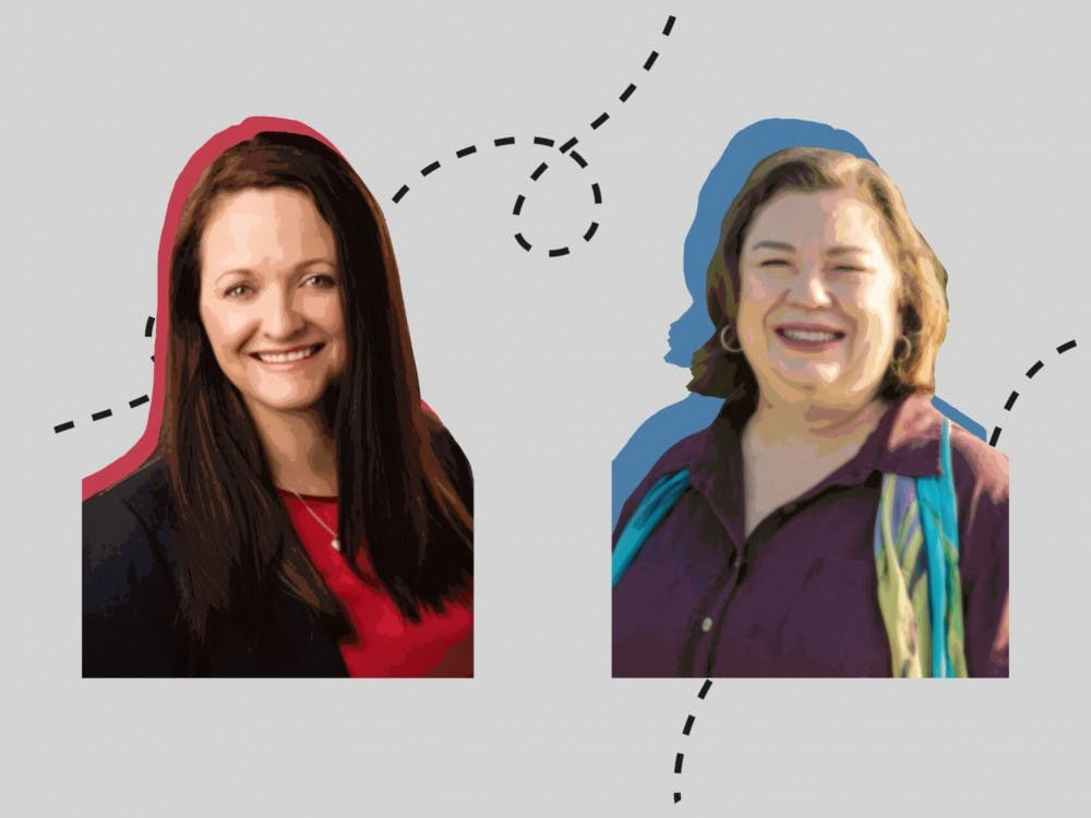 Graphic of the District 1 Alachua County Commission seat candidates