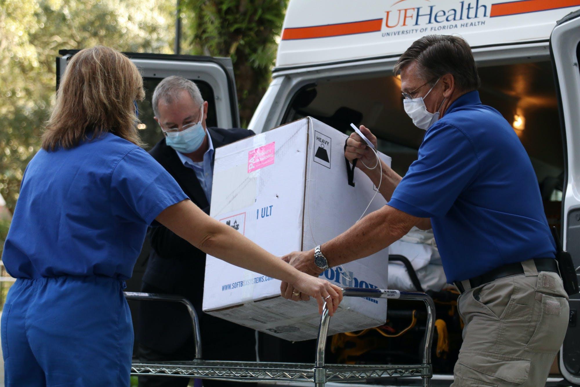COVID-19 vaccine delivery to UF Health Gainesville