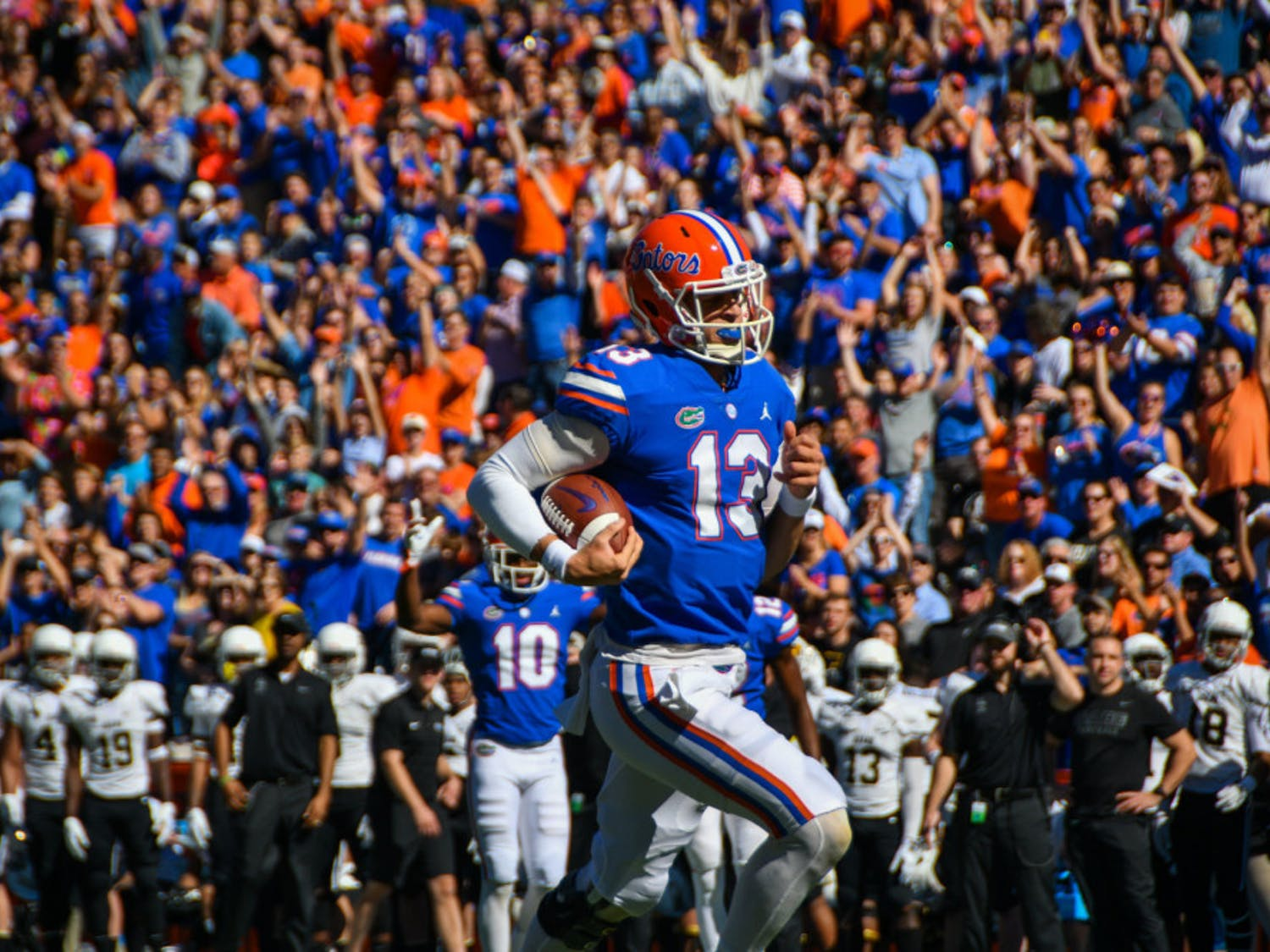 Gators quarterback Feleipe Franks has thrown for over 680 yards with seven touchdowns and zero turnovers over the last three games.