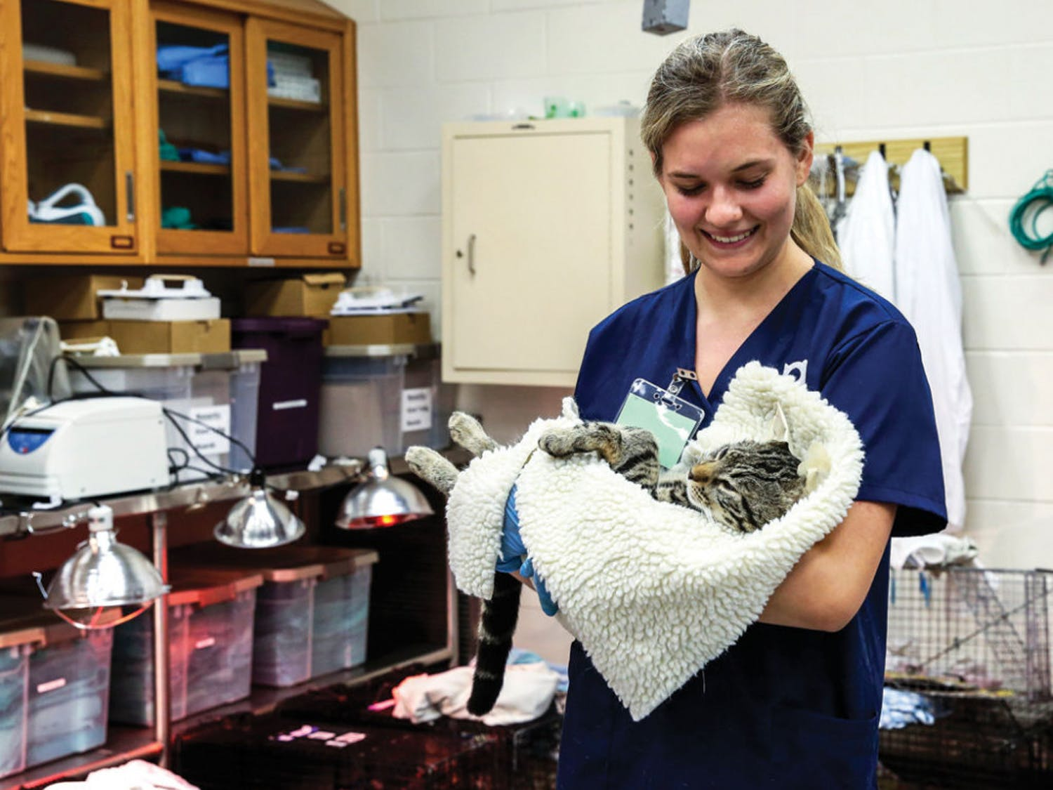 Every month, an average of 100 volunteers help spay, neuter and vaccinate an average of 200 cats per event.