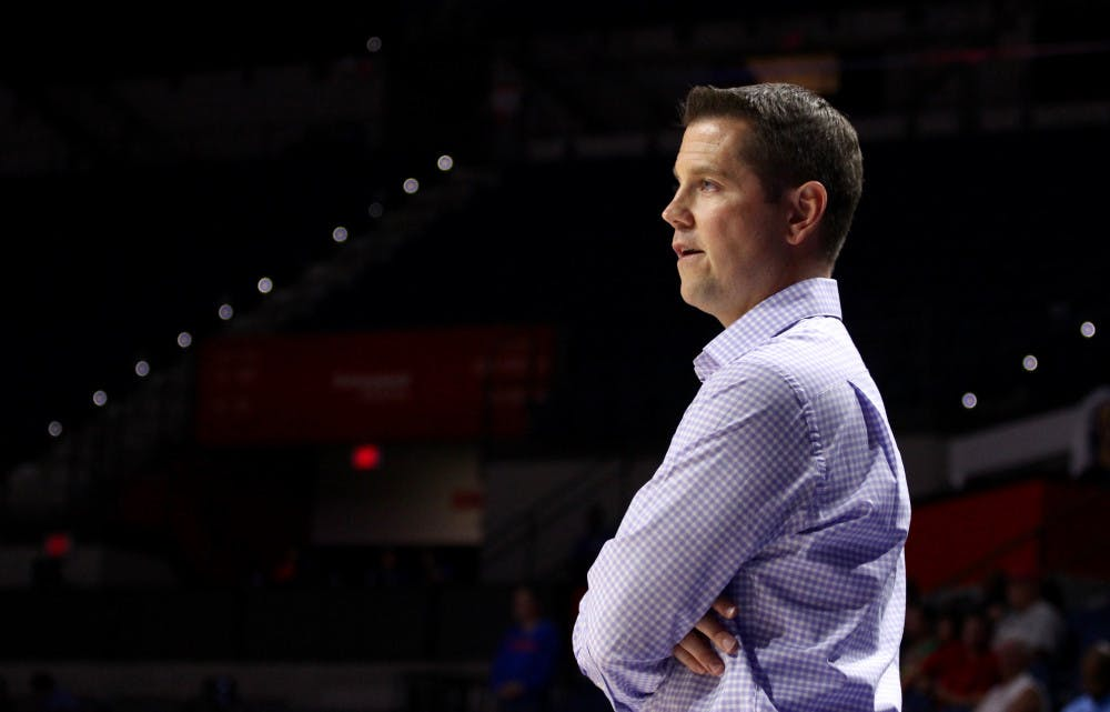 """<p>Florida women's basketball coach Cameron Newbauer wasn't pleased with his team's high volume of turnovers in its 103-77 loss to No. 12 Ohio State on Wednesday. """"Selfish basketball,"""" he said. """"It really bit us in the tail and then the wheels fell off.""""</p>"""
