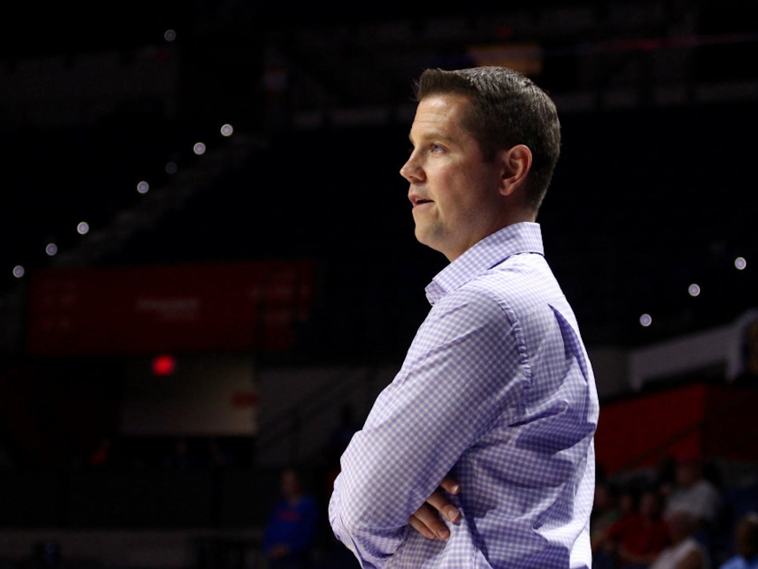 """Florida women's basketball coach Cameron Newbauer wasn't pleased with his team's high volume of turnovers in its 103-77 loss to No. 12 Ohio State on Wednesday. """"Selfish basketball,"""" he said. """"It really bit us in the tail and then the wheels fell off."""""""