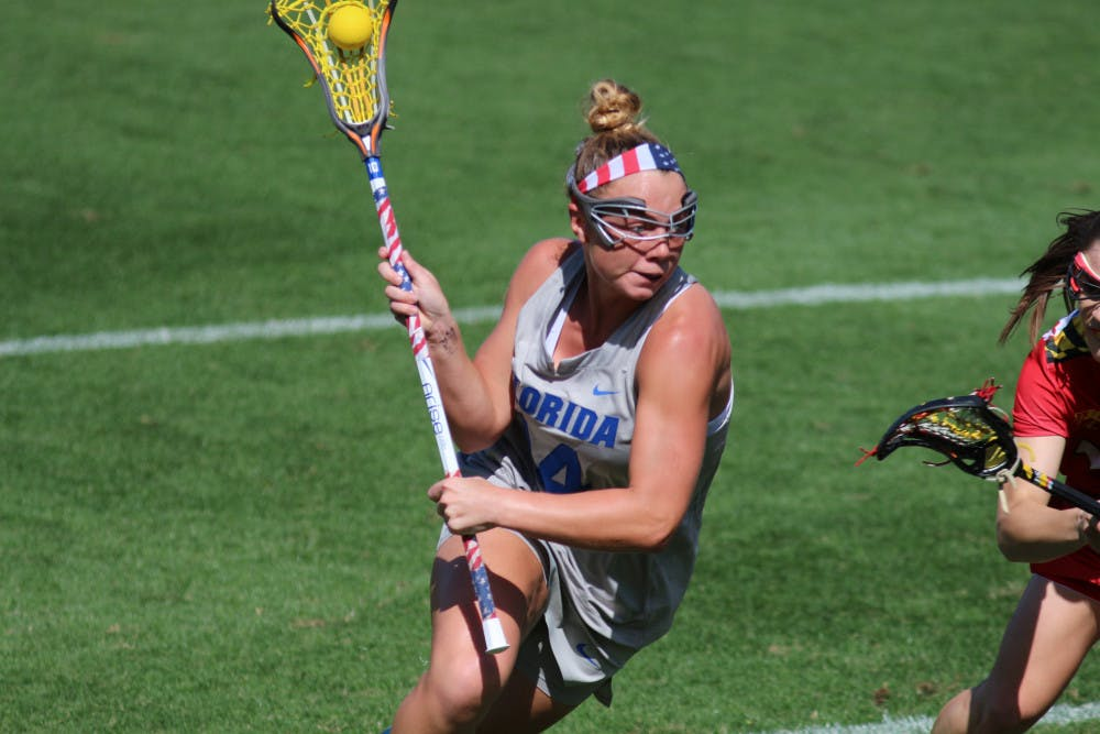 <p>Attacker Lindsey Ronbeck missed the second half of the game against Navy with an apparent knee injury.</p>
