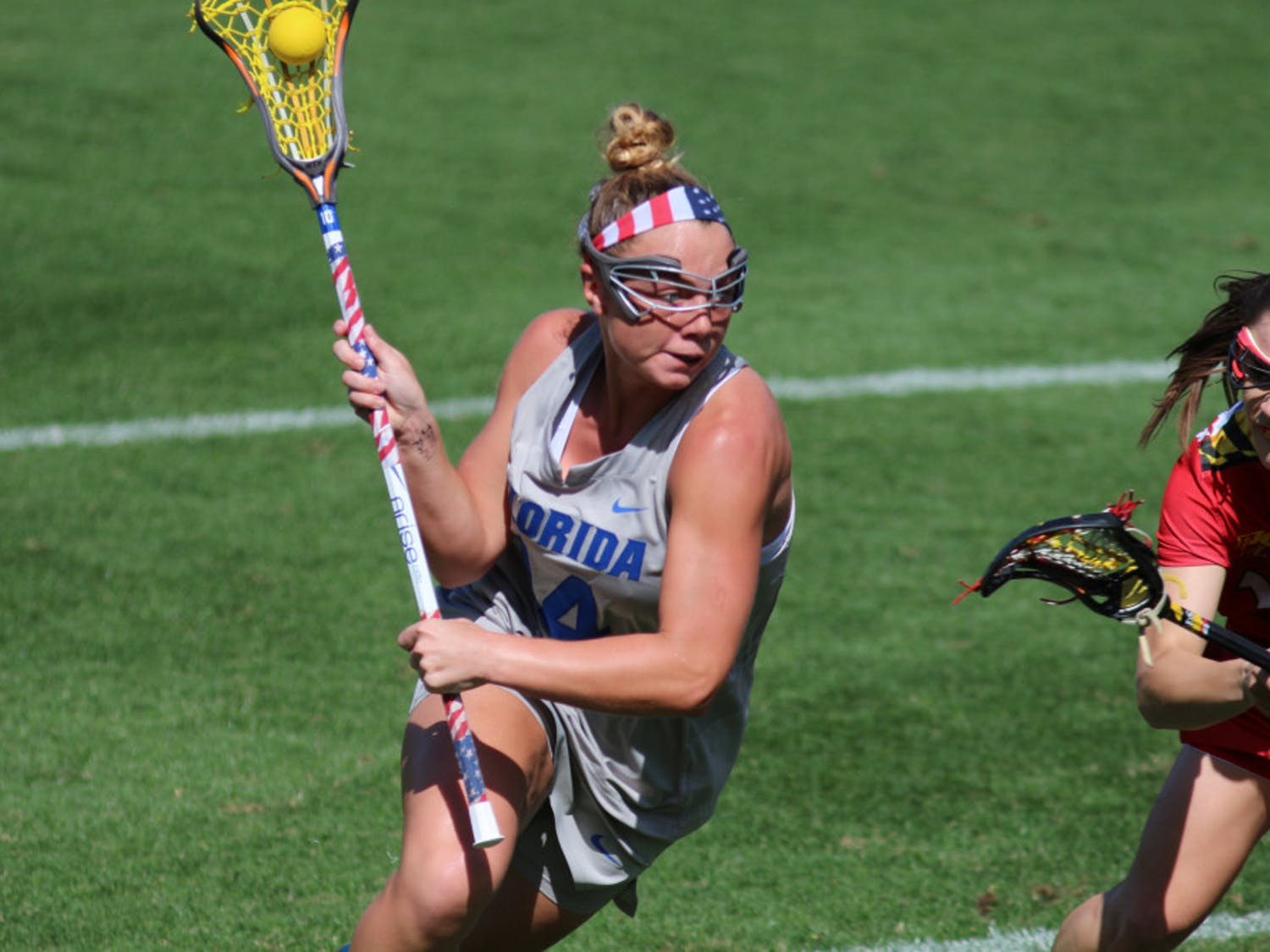 Attacker Lindsey Ronbeck missed the second half of the game against Navy with an apparent knee injury.