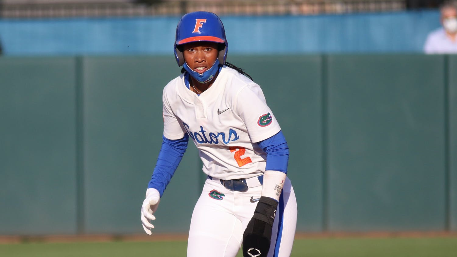 Lindsey stepped up and knocked a base-clearing triple off the left center wall. Photo from UF-FSU game March 3.