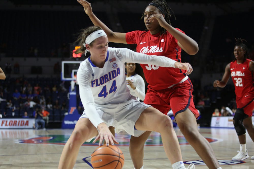<p>Forward Haley Lorenzen scored 18 points and recorded her 16th career double-dboule.</p>