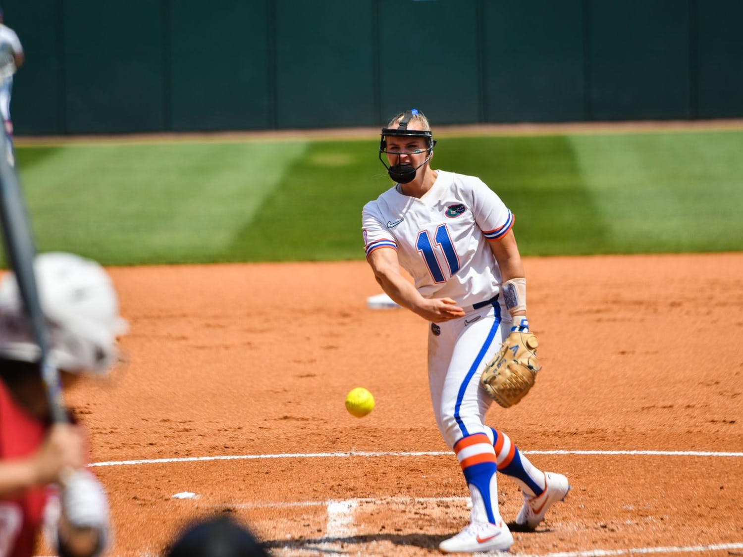 Pitcher Kelly Barnhill struck out seven batters en route to UF's victory over Tennessee 3-0 in the NCAA Super Regionals on Friday.