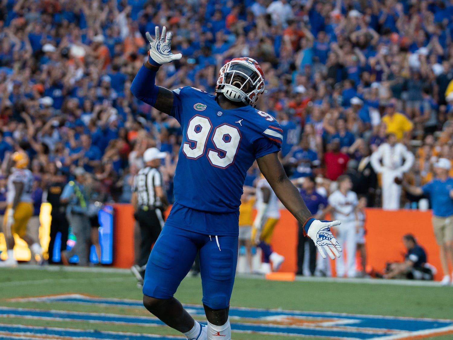 Edge rusher Jachai Polite's Twitter handle is @RetireMoms. He wants to make sure his mother is financially secure for the rest of her life.