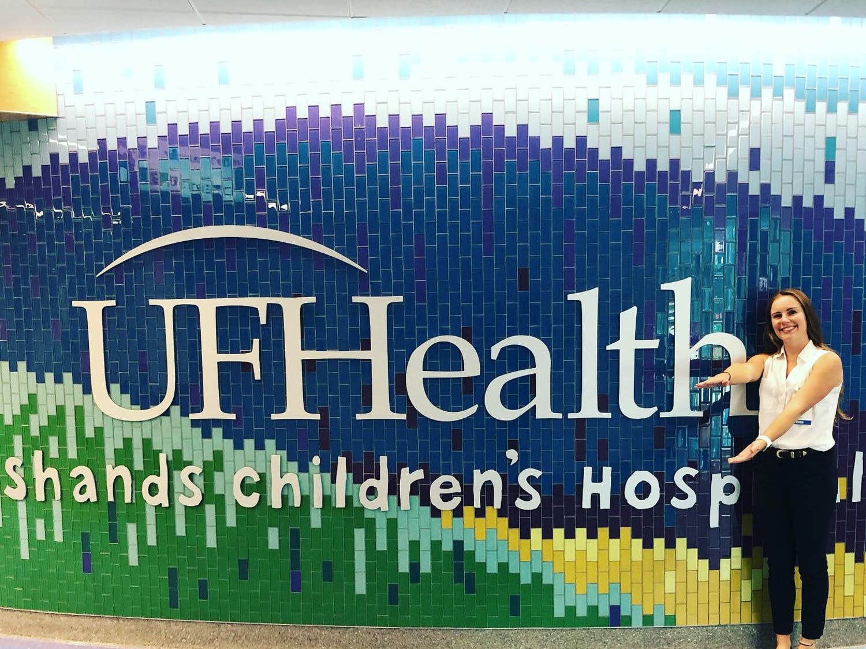 Lauren Waidner at UF Health Shands Children's Hospital. Waidner's charitable nature led her to volunteering all over Gainesville.